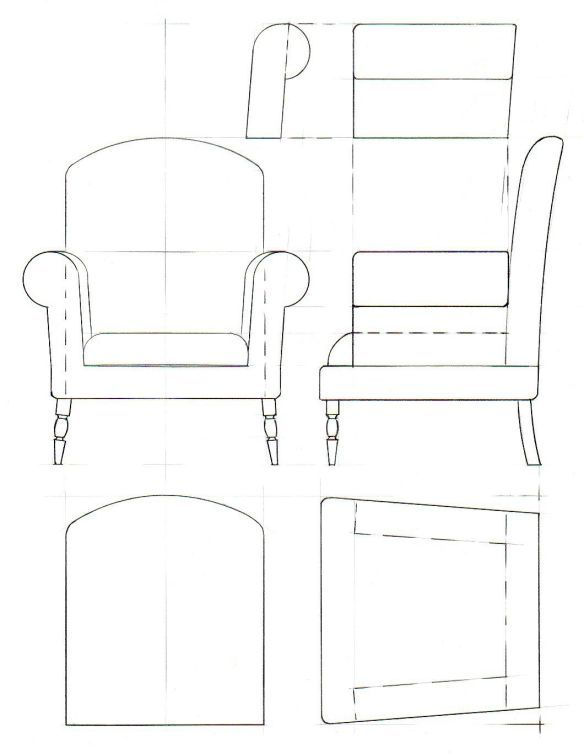 Template Drawings For Furniture Model Making Miniature
