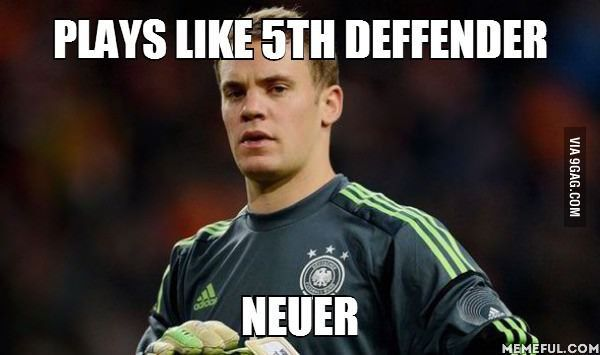 The false five. The sweeper keeper Manuel Neuer, plays like defender but won The Golden Glove