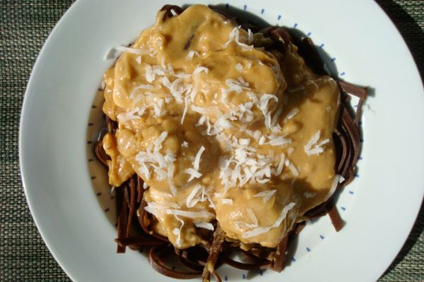 Chocolate Pasta with Peanut Butter Sauce « Peanut Butter Recipes