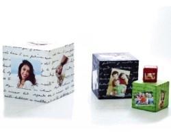 Cubo in tessuto con foto