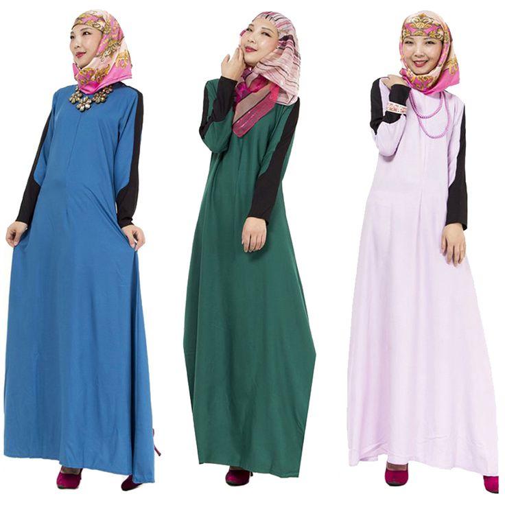 2016 Turkish women clothing  islamic abaya musulmane vestidos muslim casual dress dubai kaftan longo islami giyim arab garment