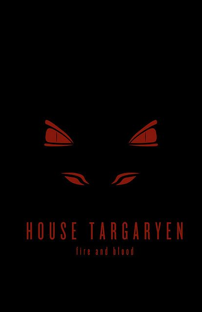 House Targaryen Minimalist Poster by Thomas Gateley