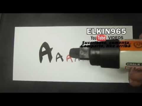 Como hacer Letra timoteo Aprende abecedario letra A - YouTube