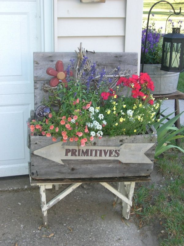 3224 best images about rustic country garden on pinterest garden junk chair planter and - Rustic flower gardens ...