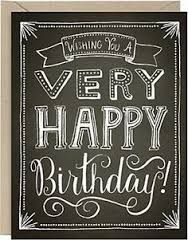 Image Result For Happy Birthday Chalkboard Card