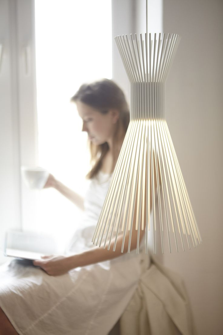 SOLEJKA - bunch shaped lamp made of painted steel wire. It can be used in three different ways: one type of pendant lamp and two types of standing version. According to our needs, it works as well as a central light like as side and ambient one.