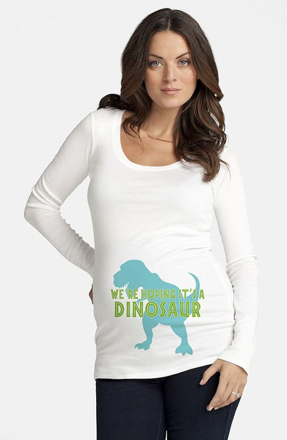 We're Hoping It's A Dinosaur DIY Maternity by DesignsbyCassieCM