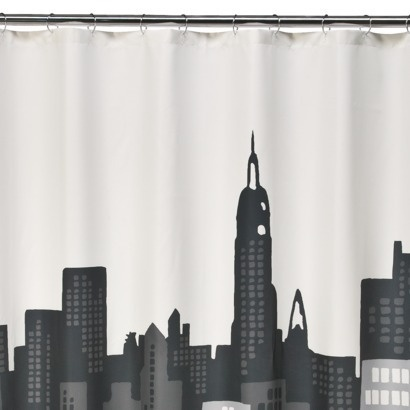 Curtains Ideas cityscape shower curtain : 17 best images about Shower Curtain Ideas on Pinterest | Kate ...