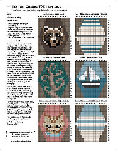 Ravelry: Hexipuff Charts: Tiny-Owl-Knits-Inspired, 2 pattern by Jennifer Fabian