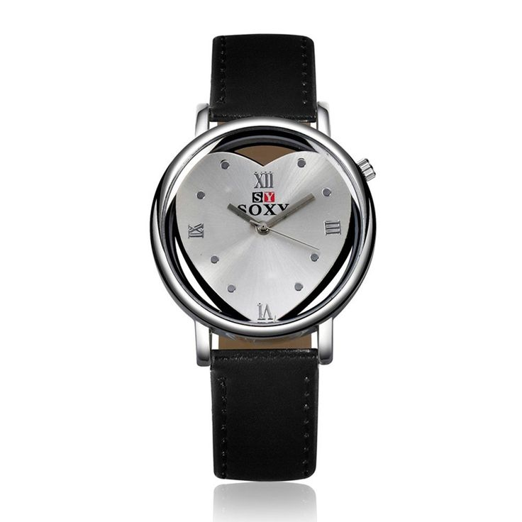SOXY Women Watch Hollow Alloy Heart Leather Simple Watch