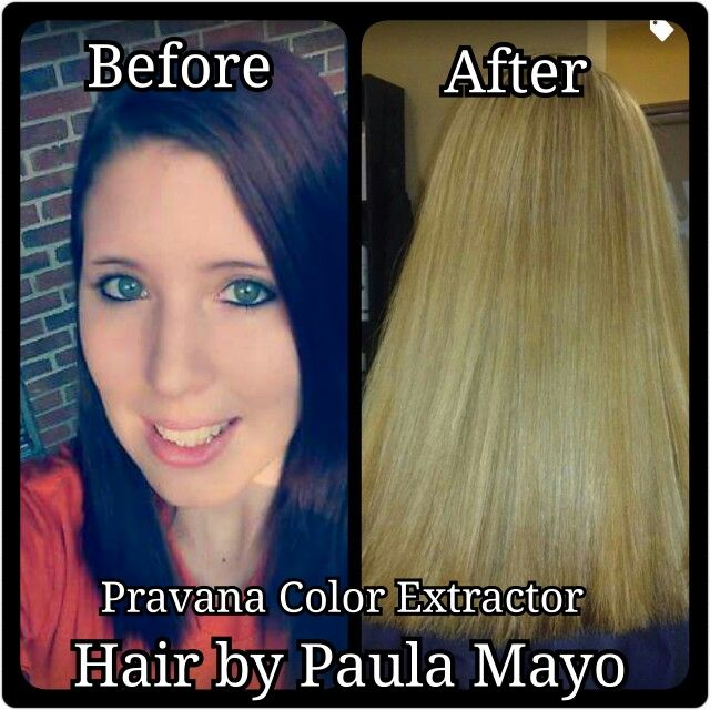 #Pravana #Pravana color extractor #Chromasilk #blonde #from black to blonde