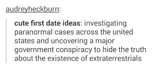 Cute first date ideas - investigating paranormal cases
