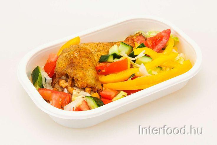 Párolt almával töltött csirkecomb friss salátával keddre! Mert a jövő héten kedd lesz a hétfő!  http://www.interfood.hu/etlap-es-rendeles/