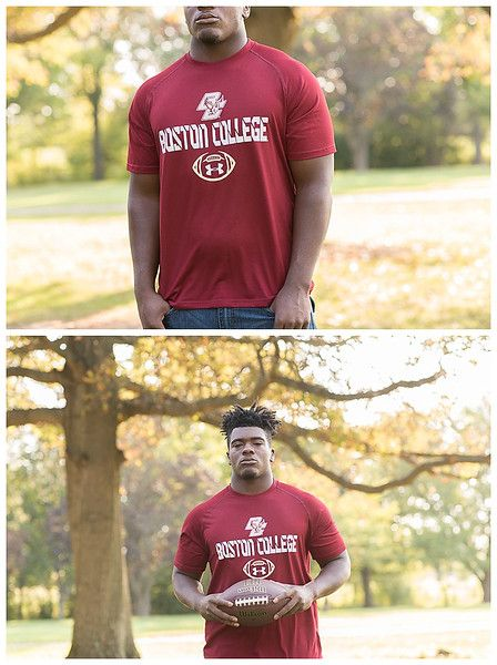 Cathedral High School, Indianapolis; Senior Guy Session, with college wear and football