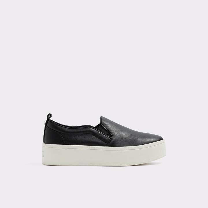Alarka White-Black Women's Sneakers