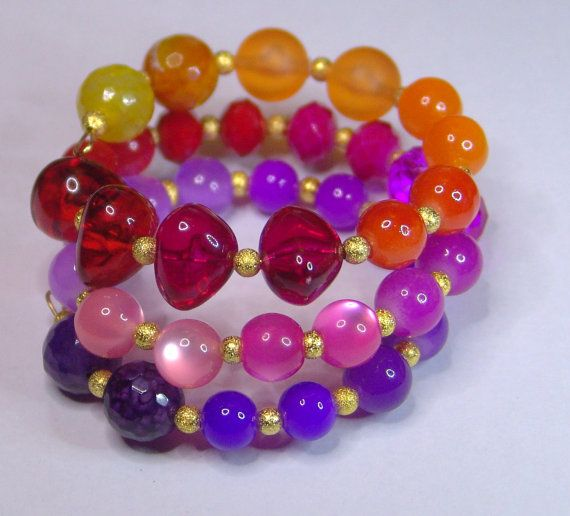 SUNSHINE  Memory wire Bracelet by 1000and1 on Etsy, €14.00