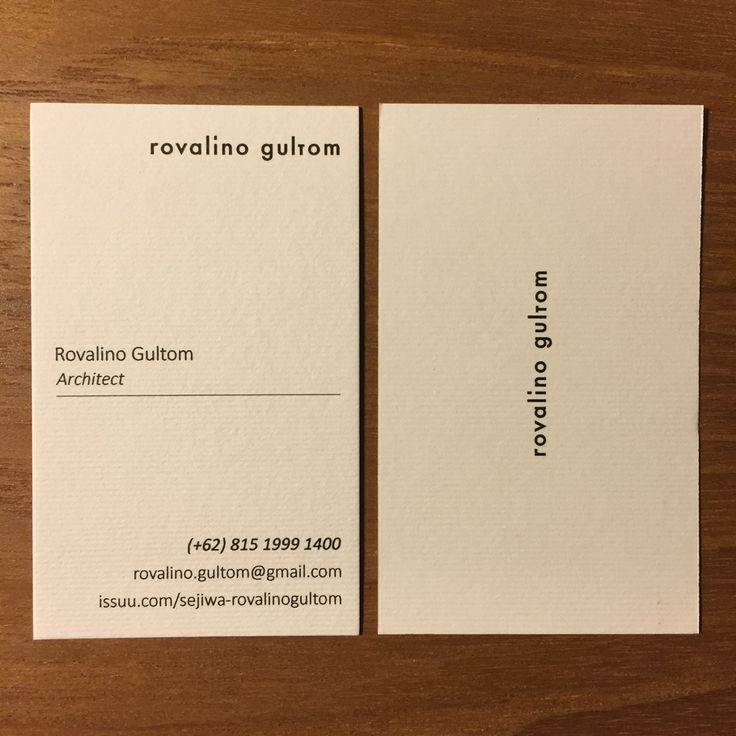 Business Card #rovalinogultom #businesscard #architect