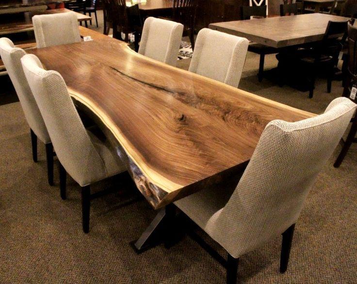Walnut Live Edge Table Live Edge Table Dining Rooms Live Edge Wood Table Dining Room Contemporary