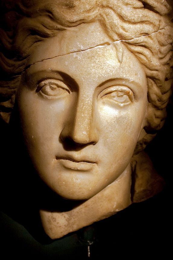 Marble bust of an ancient greek woman - Antalya Archaeology Musuem