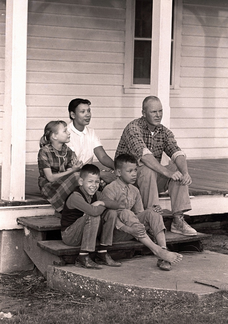 In honor of two American heroes, Richard and Mildred Loving, who asked only to be allowed to marry despite being of two races - and ultimately prevailed - here is a set of photos of them and their beautiful family.