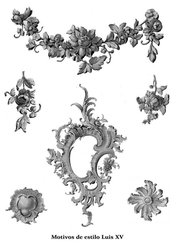 Motivos de estilo Luis XV.