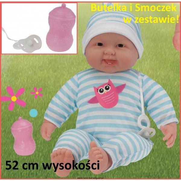 Duża lalka bobas - JC TOYS - super cena! Mięcutka, duża lalka która ma aż 52cm wysokości, ze względu na rozmiar przypominający prawdziwego dzidziusia lalkę można ubierać w małe, niemowlęce ubranka.