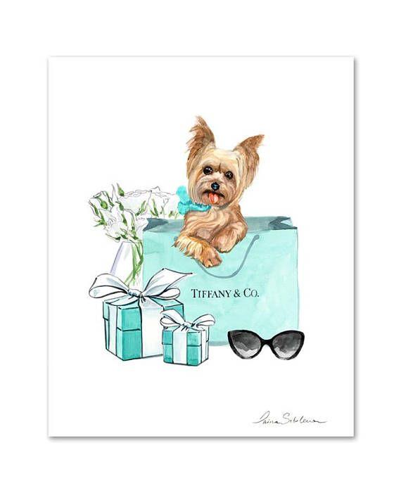 Mode Illustration Mode Druck Tiffany Wandkunst Tiffany Co
