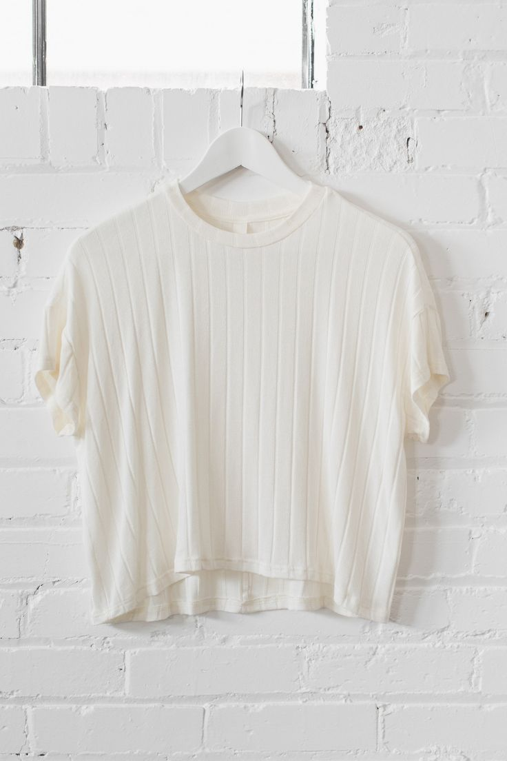 Cream Knit Crop Top