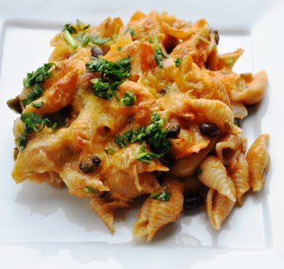 Mexican black beans and cheese pasta. Great tasting and easy meal.