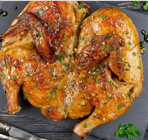 Курица по-аджарски на сковороде
