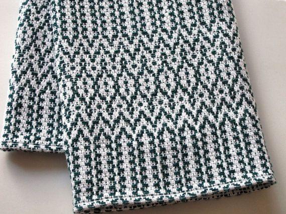 Tea Towel Handwoven Green