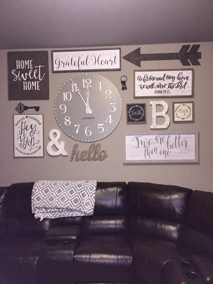 Wall Decoration Ideas With Ribbons : Best rustic gallery wall ideas on family