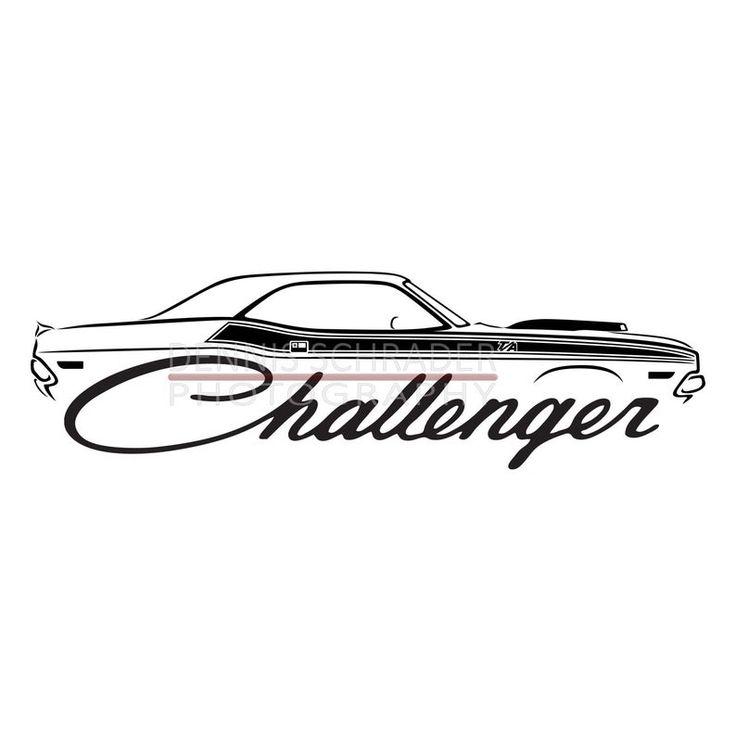 Car svg eps png jpg Dodge Challenger svg Illustration Car ... (736 x 736 Pixel)