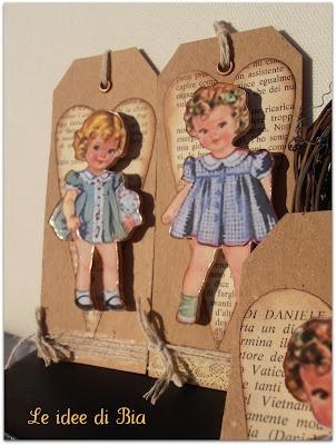 Adorable Vintage Dolls tags