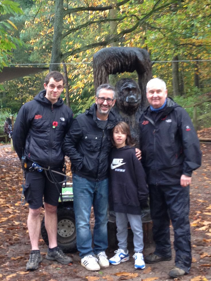 David Baddiel and his son joined our Tribe at Thetford!