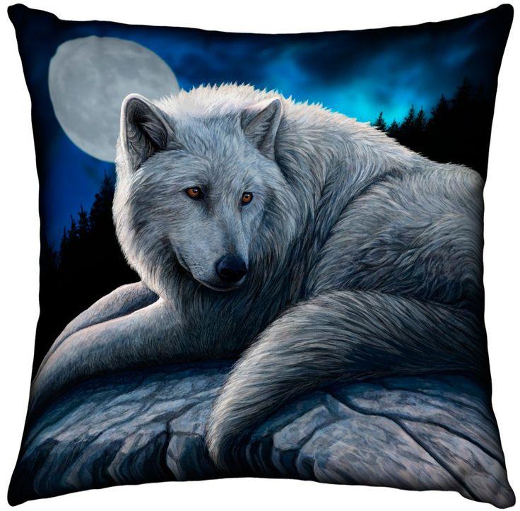 Cojín Lobo y Luna Llena #fantasma #gotico #gothic #lisa #parker #wolf #moon #xtremonline