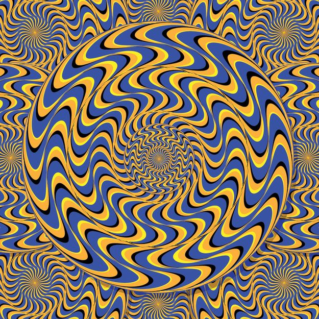 Concentrate on the inner circle, can you get it to sit still? | 10 Awesome Optical Illusions That Will Melt Your Brain