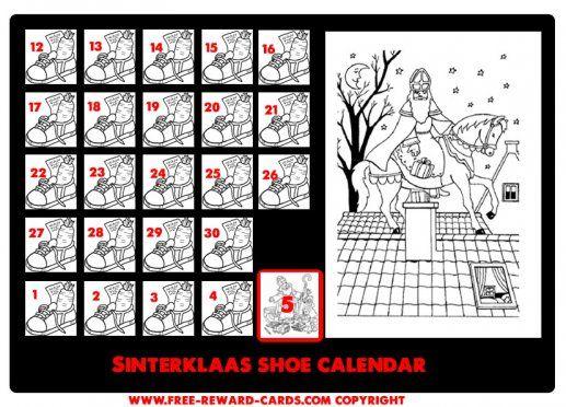 Shoe calendar Sint 5 dec
