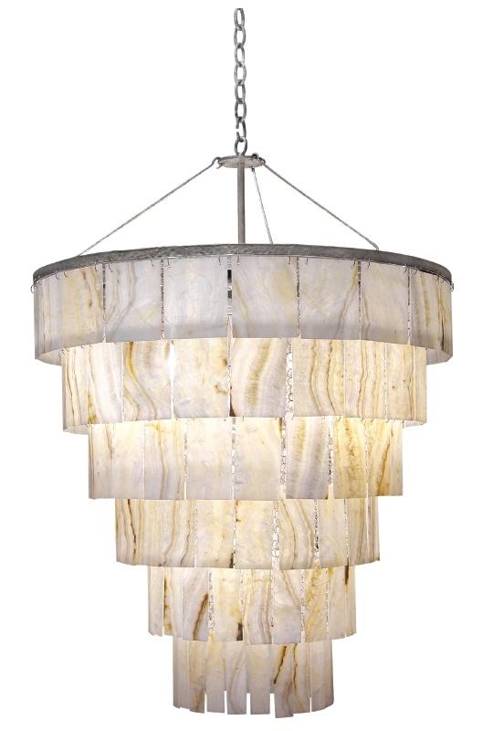 Agate chandelier