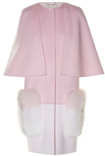 Fendi Fur-pocket bi-colour coat