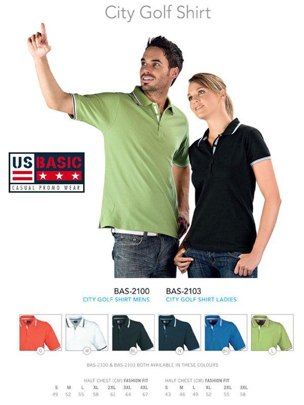 US Basic Citi Golf Shirt Corporate Clothing - US Basic Promotional Wear www.usbasic.co.za