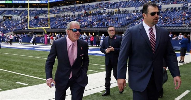 Jim Irsay, Ryan Grigson have heated discussion after loss.