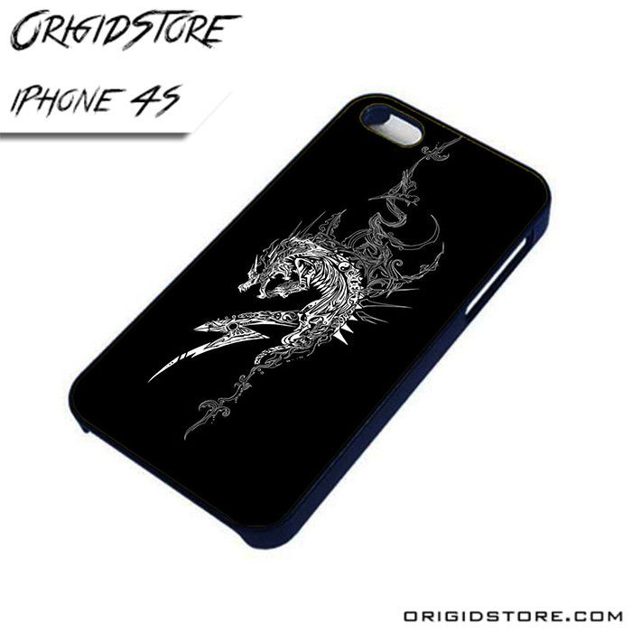 Abstract Black and White Tattoo Black and White AL iPhone 4/4S case
