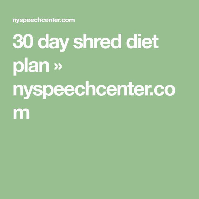 30 day shred plan pdf