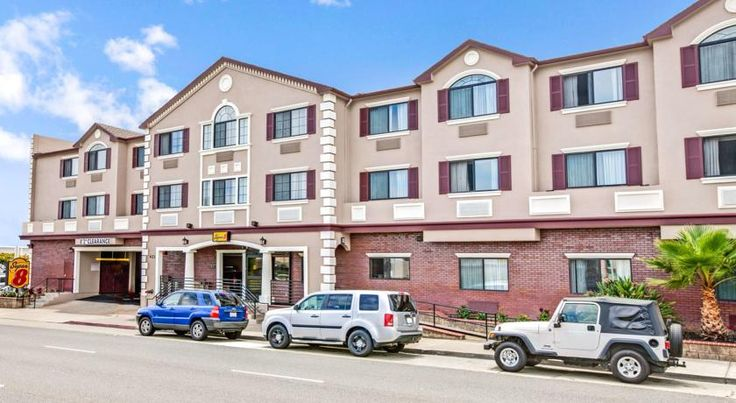 Super 8 San Francisco Airport West San Bruno This Super 8 provides free shuttle services to and from San Francisco International Airport, just 3.5 miles away. The comfortable guest rooms are equipped with refrigerators and free Wi-Fi.
