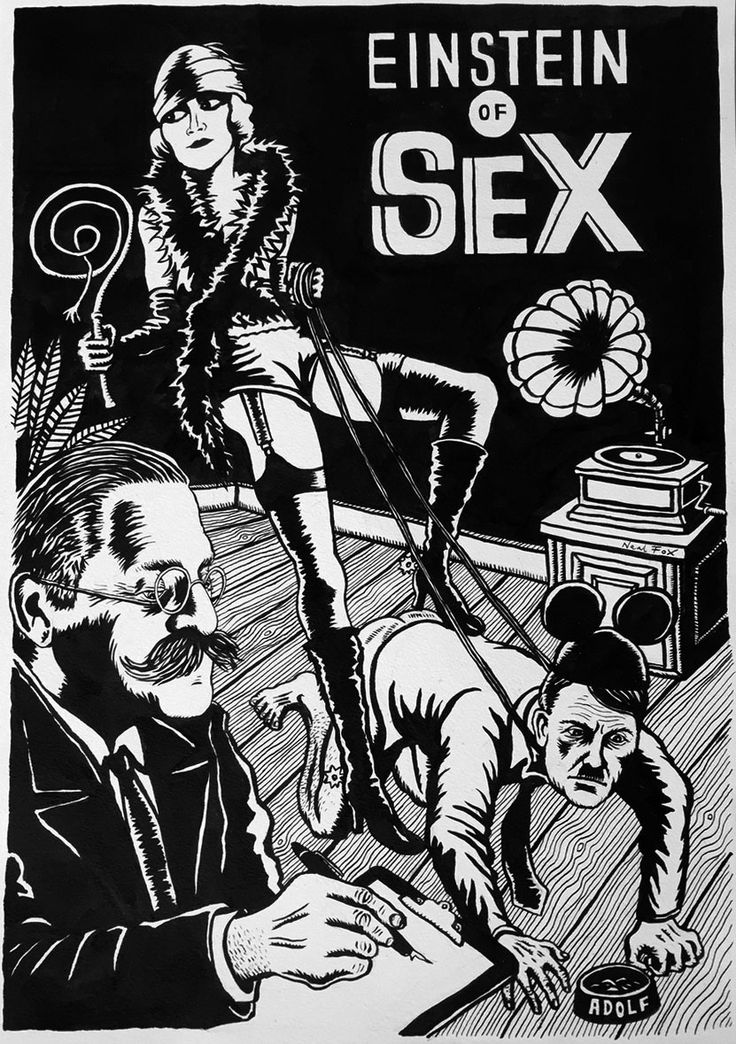 Neal Fox Einstein of Sex 2015, Tusche auf Papier / Ink on paper 59,5 x 42 cm