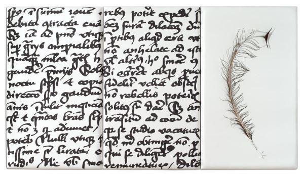 Pannello Scrittura by Antonia Ciampi. Archivio dei sogni @ Musei di Villa Torlonia