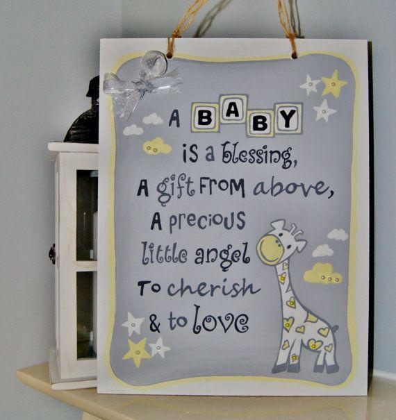 New Baby Gift Plaque S Nursery Wall Art