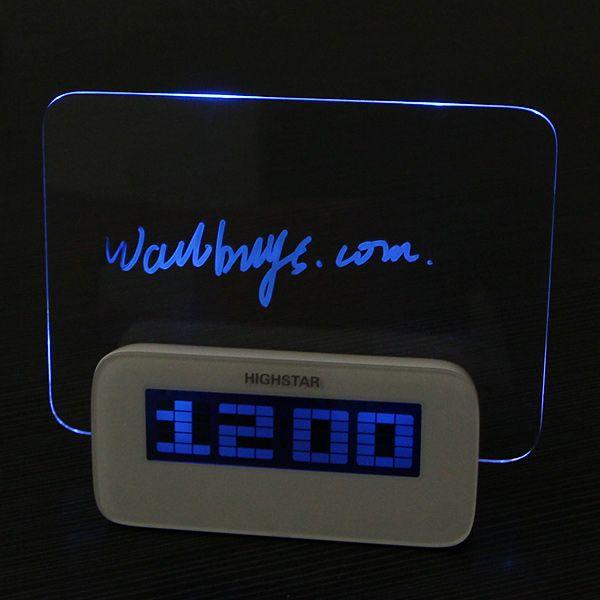 HSD/HighStar 1140A Digital Clock Message Board Alarm Clock