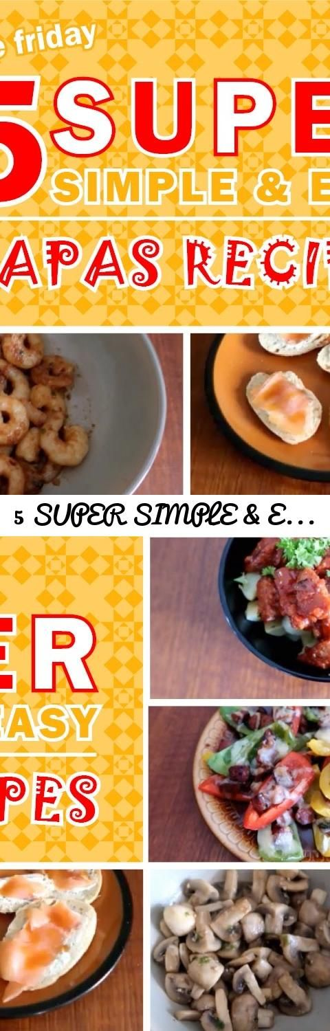 5 SUPER SIMPLE & EASY Tapas Recipes!!! ♥ FOODIE FRIDAY ♥... Tags: tapas recipes, pinchos, recipes, tapas, simple recipes, foodie friday, foodie, food, spanish food, spain, madrid, barcelona, chorizo, how to cook, cook with me, cooking, food channel, cooking channel, europe, patatas bravas, gambas al ajillo, montaditos, pintxos, easy recipes, xoricos, yummy, good food, simple recipe, easy recipe, dinner, lunch, what to eat, party food, finger food, 巴塞罗那, 巴塞羅那, 馬德里, 马德里, 西班牙, travel, travel…